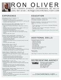 Resume Template Format Mesmerizing College Baseball Coach Resume Template Free Soccer Head Basketball