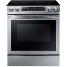 slide in electric range with self cleaning dual convection