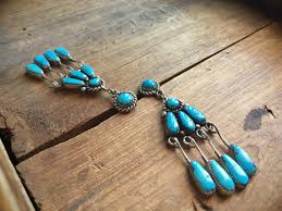 vintage zuni robert bernice leekya natural turquoise sterling silver earrings native american indian jewelry turquoise chandelier earrings