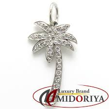 tiffany tiffany palm tree pendant top diamond pt950 palm tree 098300