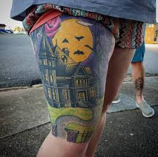 Halloween Leg Sleeve In The Works By Gypsymuse Tattoo فيسبوك
