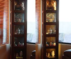 Curio Cabinet Lights Led Ribbon Lighting For A Curio Cabinet 8 Steps