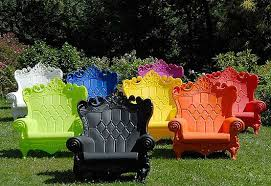 queen of love throne chairs bright coloured furniture