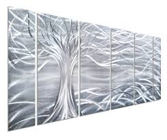 pure art willow tree of life metal wall art abstract silver sculpture decor 3d wall art  on 3d wall art life tree with pure art willow tree of life metal wall art abstract silver