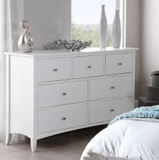 Large Bedroom Chest Of Drawers Edward Hopper White 7 Drawer Chest Bedroom Furniture Direct