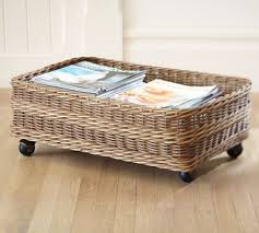 Under The Bed Storage On Wheels Mesmerizing DIY Pottery Barn KnockOff Underbed Basket Home Pinterest