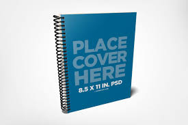 notebook mockup spiral template psd bound