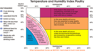 Chick Temperature Chart Temperature And Humidity Index Poultry