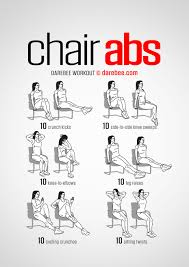 Chair Gym Exercise Chart Chair Abs Workout