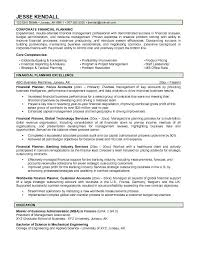 financial planner resume with Example Corporate Financial Planner .
