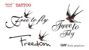 Ge Aifei Tattoo Stickers Free Flying Little Swallow Tattoo