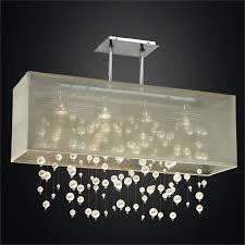 beaded chandelier rectangular shade chandelier veneto