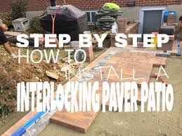 step by step on how to install an interlocking paver patio in hanover pa ryan s landscaping you