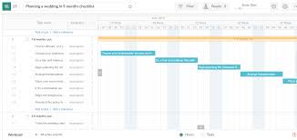 Wedding Planning Gantt Chart Planning A Wedding In 9 Months Checklist Excel Template