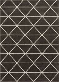 Dulce Antrasit Modern Geometric Rug Well Woven