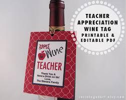 Diy Wine Bottle Labels Printable Teacher Gift Tags For Wine Bottles Wine For Teacher