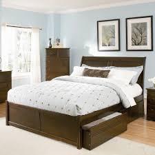 ... Dark Brown Wooden Bed With Storage ...