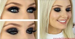 if you are planning to hang out with your friends this evening then this glitter black y eye makeup is sure to dazzle