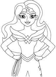 Female Superhero Coloring Pages Wonder Woman Coloring Pages Wonder Woman Birthday Party