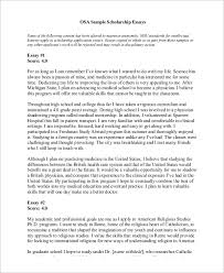 Sample Essay Scholarships Sample Essay Format For Scholarships How To Write A