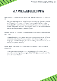 Mla Annotated Bibliography Format By Annotatedbibwriting On Deviantart