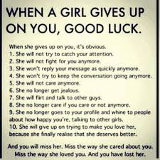 Luck Quotes Awesome Breaking Up And Moving On Quotes When A Girl Gives Up On You Good