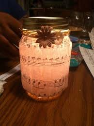 Music notes candle table decor