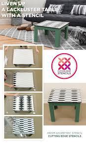 cutting edge furniture. Cutting Edge Stencils Shares How To Liven Up Lackluster Furniture Using A Geometric Stencil Pattern.