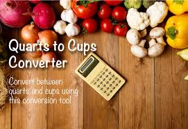 Conversion Chart Quarts To Cups Quarts To Cups Converter The Calculator Site
