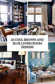 Cool Living Room 26 Cool Brown And Blue Living Room Designs Digsdigs