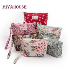 miyahouse new vine fl printed cosmetic bag women makeup bags female zipper cosmetics bag portable travel