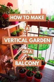 a vertical garden on a balcony garden
