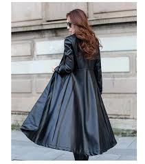 autumn fashion x long leather trench coat women outerwear europe las trench coats 2017 leather coat