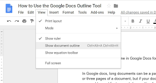 Google Doc Format How To Use The Google Docs Outline Tool