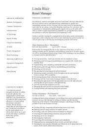 Manager Resume Sample Luxury Retail Manager Resume Example O Retail ...