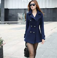new 2016 women winter wool coat women s double ted coats las long blue red camel woollen