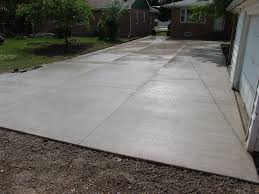 after picture of new concrete driveway