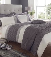 grey and white duvet cover king