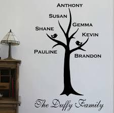 original personalised family tree wall sticker perfect family tree wall art