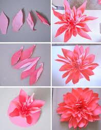 Dahlia Flower Making With Paper Diy Wall Art Giant Paper Flower Tutorial Never Skip Brunch