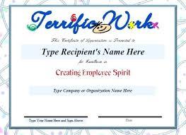 Printable Appreciation Certificates Com Certificate Wording Template Printable Custom Of Appreciation