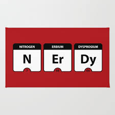 nerdy periodic table rug