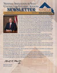 NASCLA Newsletter - National Association of State Contractors ...