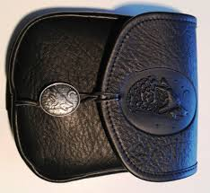 wolf leather belt pouch medium
