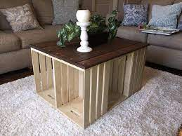 diy pallet and crate coffee table
