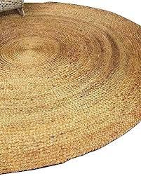 natual ug ound baided atisan make natural jute rug with black border