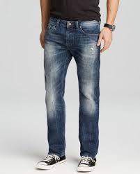 Diesel Mens Jeans Size Chart Diesel Mens Blue Buster 0831d Regular Fit Tapered Jeans For