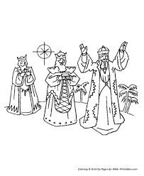 Small Picture The Christmas Story Coloring Pages Wise Men with Gifts