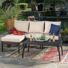 l shape furniture. Maui Patio Furniture 5 Piece L Shaped Outdoor Wicker Sectional Sofa Set Brown Tan Shape R