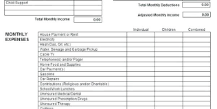Monthly Income And Expenses Printable Income And Expense Form Statement Business